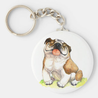 Smiley  English Bulldog Puppy  Key Chain