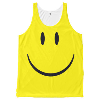 Smiley Face All-Over Print Singlet