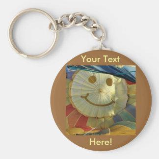 Smiley Face Balloon! Basic Round Button Key Ring