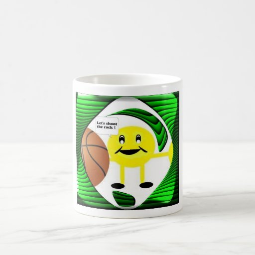SMILEY FACE BASKETBALL MUG