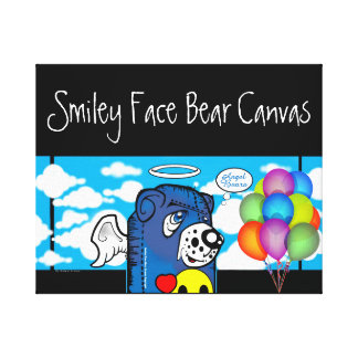 Smiley Face Bear Canvas Collection Canvas Print