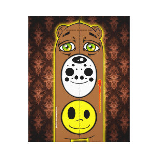 Smiley Face Bear Canvas Copyright Stretched Canvas Prints