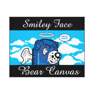 Smiley Face Bear Canvas Stretched Canvas Prints
