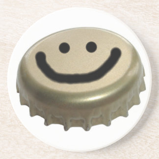 Smiley Face Beer Bottle Cap Beverage Coaster