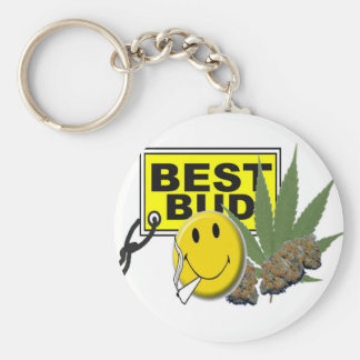 smiley face best bud collection basic round button key ring