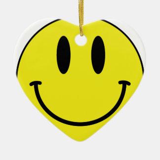smiley face ceramic heart decoration