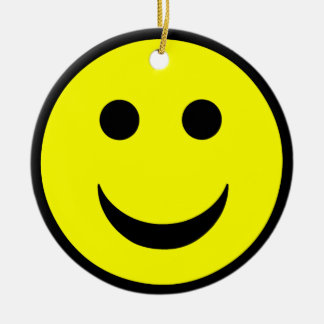 Smiley face ceramic ornament