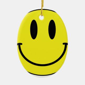 smiley face ceramic oval decoration