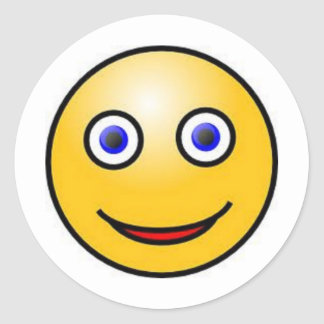 Smiley Face Classic Round Sticker