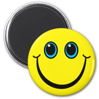 Smiley Face Custom Color 6 Cm Round Magnet