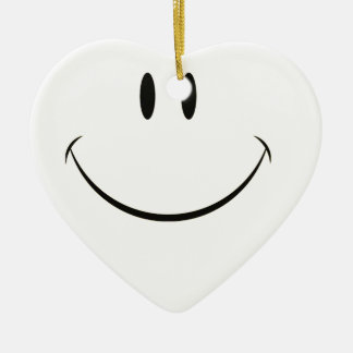 Smiley face christmas tree ornament