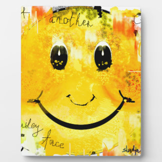 smiley face display plaque