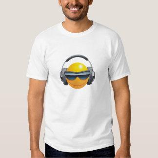 smiley face dj headphones design t-shirt