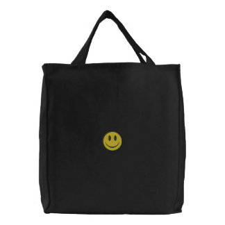 Smiley Face Embroidered Bags