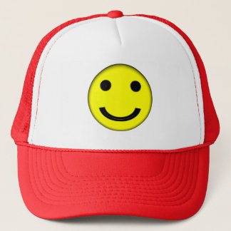 Smiley Face Emoji Trucker's Hat