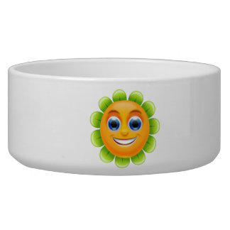 SMILEY FACE FLOWER PET WATER BOWLS