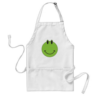 Smiley Face Frog Standard Apron