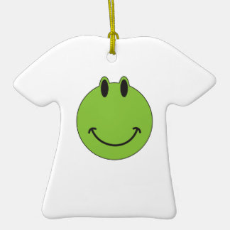 Smiley Face Frog Ceramic T-Shirt Decoration