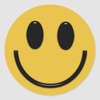 Smiley face fun cartoon sticker