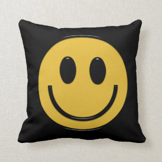 Smiley face fun seventies throw pillow