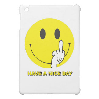 smiley face giving the finger iPad mini cover