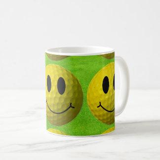 Smiley Face Golf Ball Coffee Mug