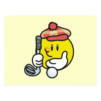 Smiley Face Golf T-shirts and Gifts Post Card