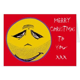 Smiley Face Guru Christmas Card