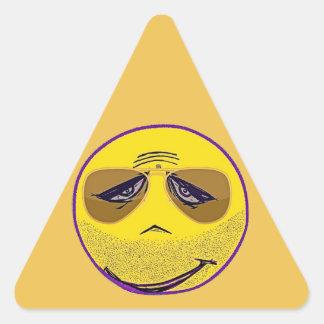 Smiley Face Guru Cool Triangle Sticker