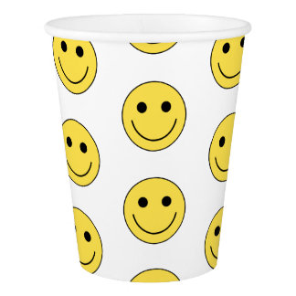 Smiley Face Happy Birthday Party Paper Cups