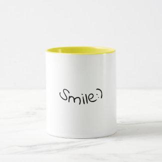 Smiley face happy coffee or tea mug