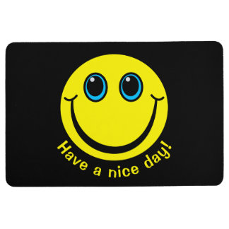 Smiley Face Have a nice day Floor Mat