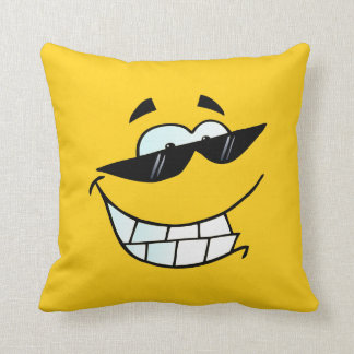 Smiley Face in Sunglasses Cushion