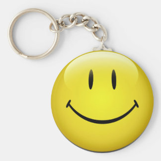 Smiley Face Key Ring Basic Round Button Key Ring