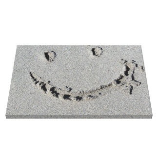 Smiley Face on Beach Gallery Wrap Canvas