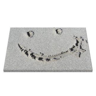 Smiley Face on Beach Gallery Wrap Canvas