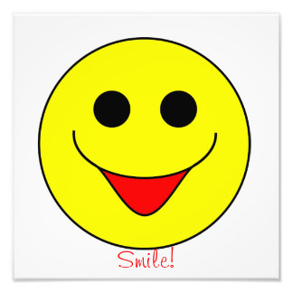 Smiley Face Picture Photographic Print