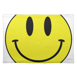 smiley face placemat