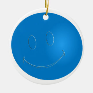 SMILEY FACE RACQUETBALL / RACQUETBALL IS MY DRUG CERAMIC ORNAMENT