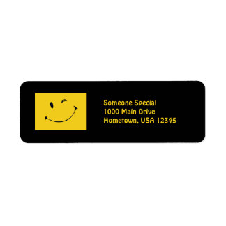 Smiley Face Return Address Label