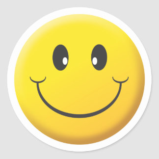 Smiley Face Round Sticker