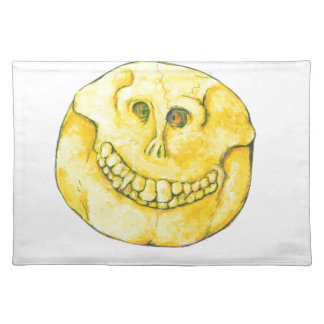 Smiley Face Skull Placemat