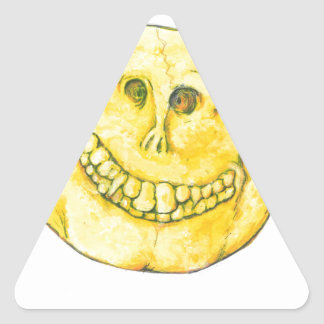 Smiley Face Skull Triangle Sticker