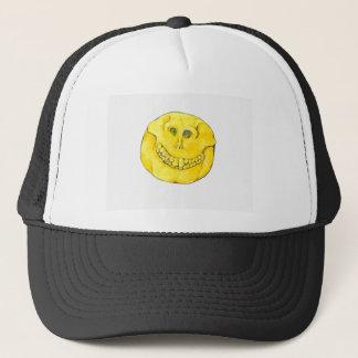 Smiley Face Skull Trucker Hat
