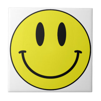 smiley face small square tile