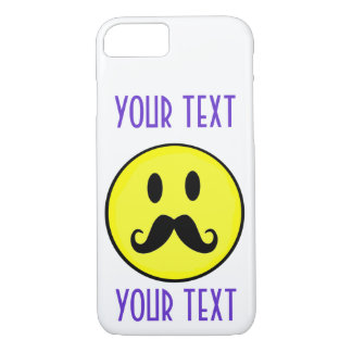 SMILEY FACE SMILE TEMPLATE CUSTOMIZE MOUSTACHE iPhone 7 CASE