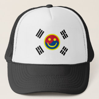 Smiley Face South Korean Flag (Version 2) Trucker Hat