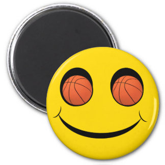 SMILEY FACE SPORTS BASKETBALL MAGNET
