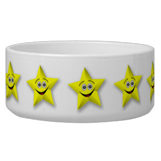 SMILEY FACE  STAR PET BOWLS