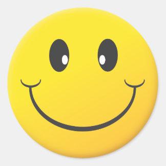 Smiley Face Round Sticker